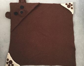 Hooded Bear Crochet Blanket Pattern