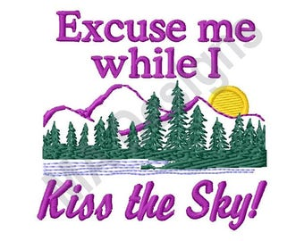 Kiss The Sky - Machine Embroidery Design, Mountains