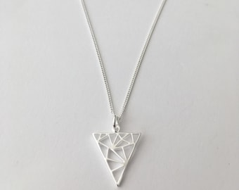 Sterling Silver necklace with Triangle design charm