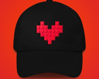 Black hat with red LEGO® heart
