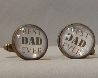 Personalised Cuff Links for the Men in Your Life - Best Dad, photo/phrase, Initials, name, Bridegroom, Best Man, Best Brother,