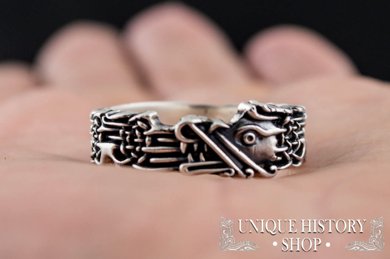 Wolf Ring Norse Ornament Ring Viking Jewelry with Norse