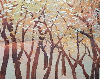 Woven Lite Brown Forest Scene SF 1456