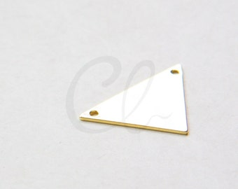 One Piece Premium Gold Plated Brass Base Triangle Link - 16x25mm (2005C-W-260)