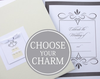 Wedding Memory Book | Wedding Photo Book | Bride Keepsake Memory Photo Book Album | Wedding Cake Charm