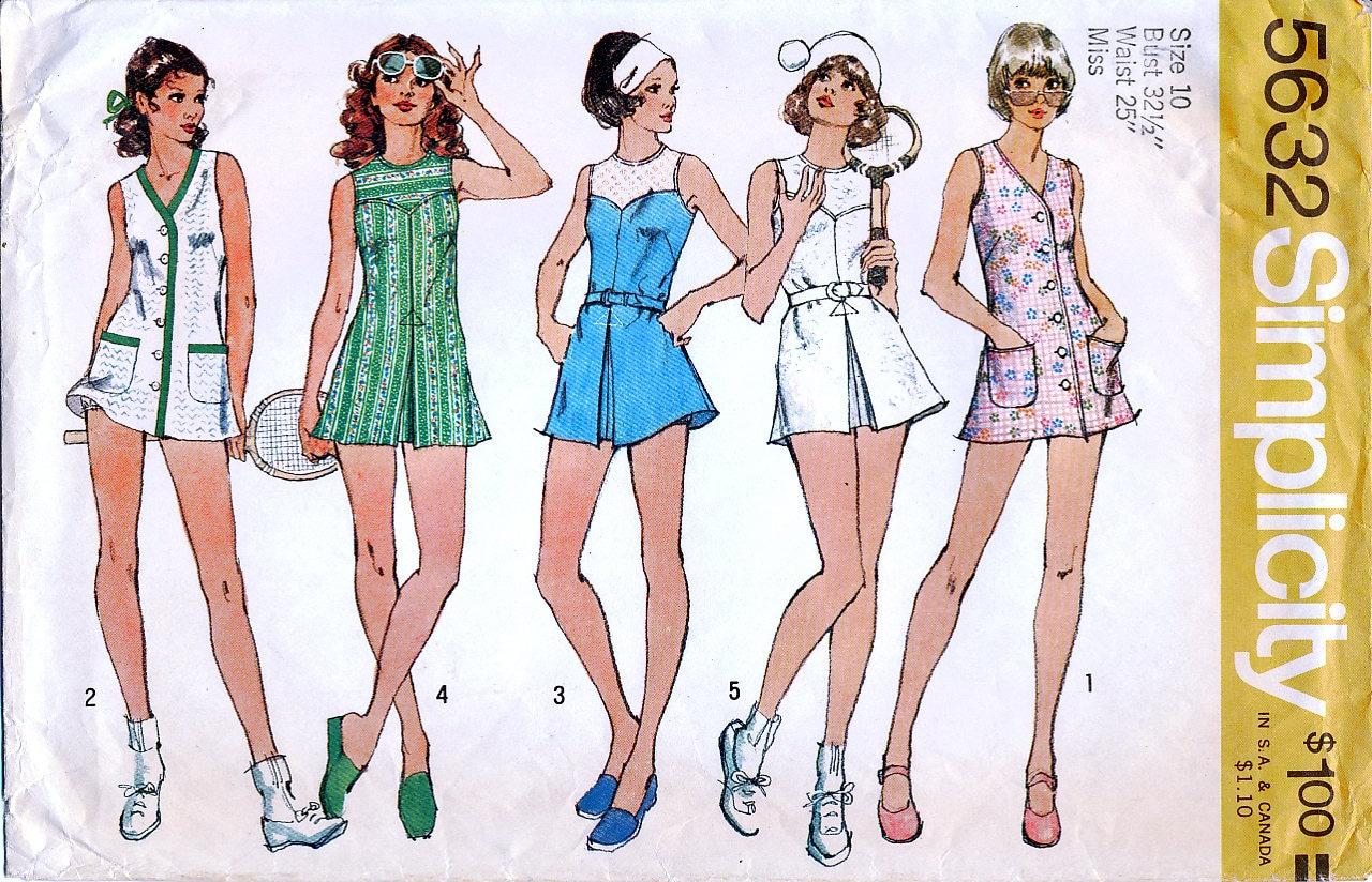 Einfachheit 5632 Vintage 70er Jahre-Schnittmuster für Misses kurze ...