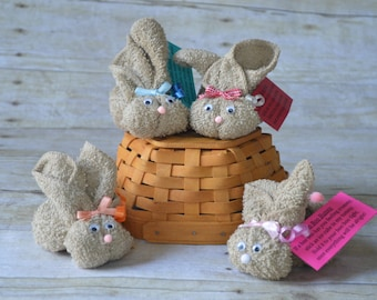 Light Brown Boo Boo Bunnies, Woodland Baby Shower Favor, New Baby Gift, Stocking Stuffer, Mommy to Be, Cold Ice Pack, Gender Neutr