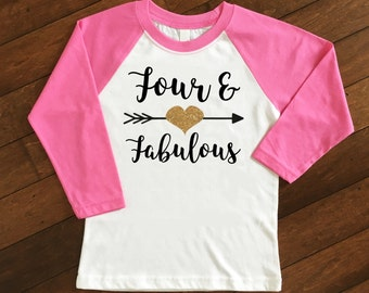 Birthday Number Shirt | Birthday Raglan | Girls Birthday Shirt | Number Shirt | Personalized Birthday Shirt | 4th Birthday Shirt | 4 Shirt