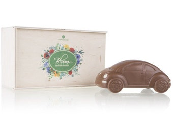 Mother's Day VW Beetle  Volkswagen Beetle made of milk chocolate  Beetle miniature Funny gift