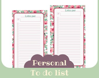 inserto Liste Personal butterfly style - Printable -