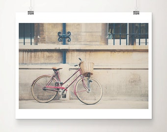 red bicycle photograph Cambridge photograph travel photography red bicycle print Cambridge print hipster style architecture photo