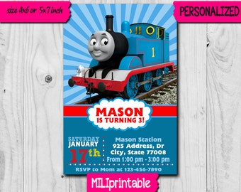 Thomas train invites etsy thomas train invitation thomas train birthday invitation thomas party thomas birthday thomas filmwisefo