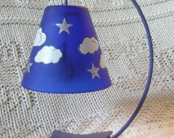 Darling Vintage Stars + Clouds Candle Holder