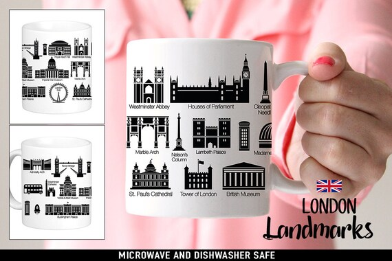 Coffee Mug London Landmarks Coffee Cup - London Mug - Travel Mug - Sightseeing