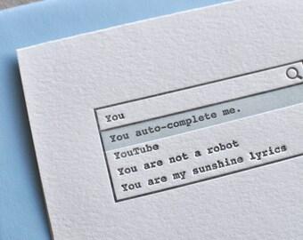 Nerdy Love Variety Letterpress Cards & Envelopes, Set of 3