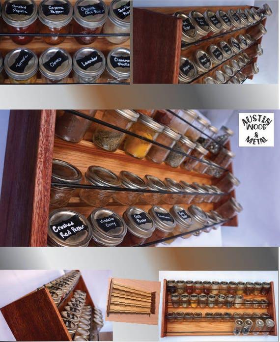 Gewürzaufbewahrung profi küche gewürz aufbewahrung rack 48 weckglas gewürzregal
