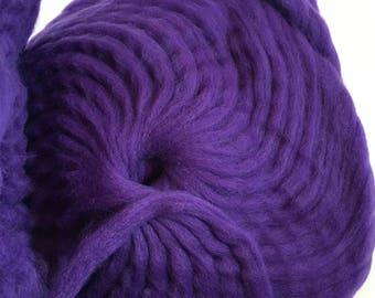 Perfect purple wool roving for needle felting, spinning, weaving, locker hooking
