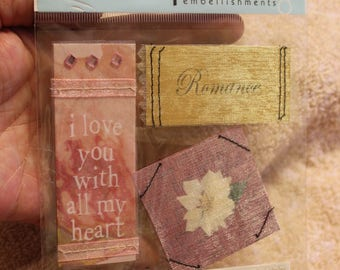 Free Shipping!  me & my BIG Ideas Soft Spoken - Romance - SS-01 - Sheer Bliss, I love you with all my heart - New in Pkg - Stickers - SNSS2