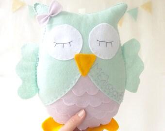 Personalized Stuffed Animal / Woodland Stuffed Animals / Owl Stuffed Toy / Owl Nursery Decor / Baby Shower Gift