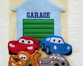 Car Finger Puppets - Busy Book - Quiet Book - Busy Bag - Car Busy Book - Car Busy Bag - Build Your Own - Toddler Learning Toy - Montessori
