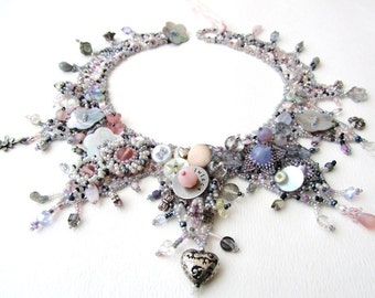 Beadweaving Tutorial No. 18 - Marie Antoinette Collar, DIY Beading Pattern, Statement Necklace Design