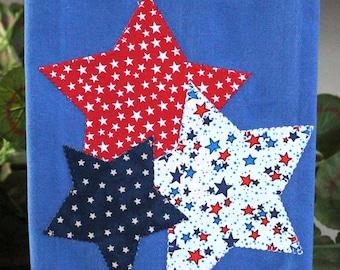 4th of July Kitchen Towel, Americana Towel, Applique Towel, Stars Towel, Hostess Gift