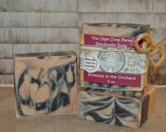 Evening in the Orchard cold process soap, handmade soap, all natural soap, fruity soap