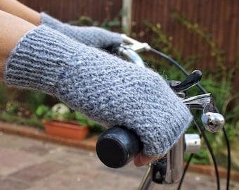 Womens Fingerless Gloves, Wool Gloves, Fingerless Mittens, Girlfriend Gift, Gift for Her