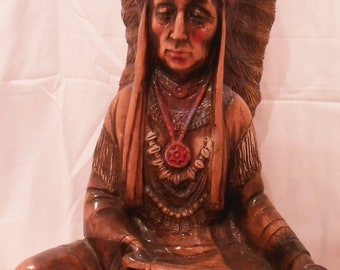 Sitting Native American Indian