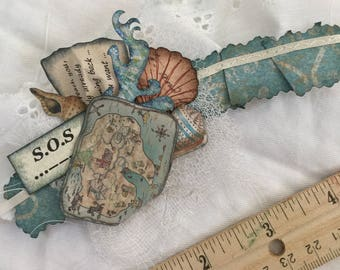 Junk journal embellishment, journal embellishment, paper college, cluster embellishment, paper art, mixed media, collage