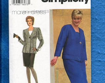 Simplicity 9248 Super Chic Mother of the Bride Princess Seam Jacket & Pencil Skirt Size 26W to 32W UNCUT