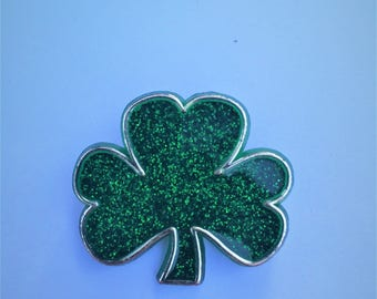 Hallmark Clover Brooch 1982 Shamrock Lapel Pin, Broach