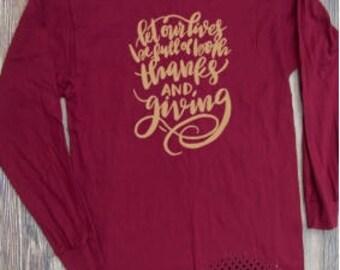 Thanksgiving T-shirt fall pumpkin spice Adult Shirt season halloween gold brown orange short sleeve