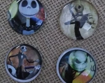 Jack Halloween Magnets - Nightmare Before Christmas Magnets - Jack Skellington Magnets - Halloween Magnets -Halloween Decorations