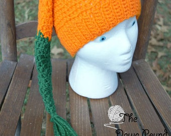 Long Tail Stocking Pumpkin Hat Hand-Crocheted, Stocking Hat, Warm, Cold Weather, Cute, Pumpkin Cap, TheGriffinsCreations