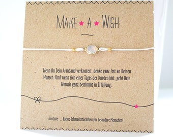 Lucky Bracelet * Make a wish * with a crystal glass