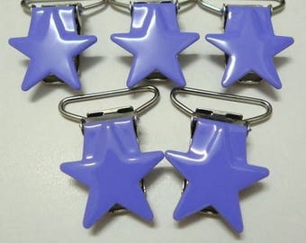 Pacifier clip lavender star
