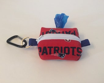 Waste Bag Dispenser, New England Patriots, Leash Bag, Dog Poop Bag Holder, Dog Gift, Dog Lover, Gift Under 15