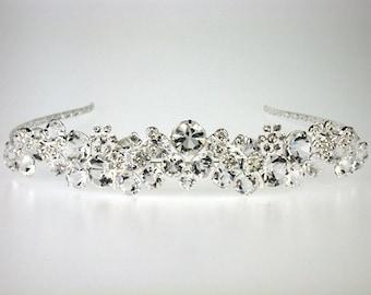 Wedding Tiara - Rhinestone Tiara - Elisabeth Bridal Tiara with Rhinestones-Bridal Tiara - Bridal Accessories- Bridal Hair - Wedding Jewelry