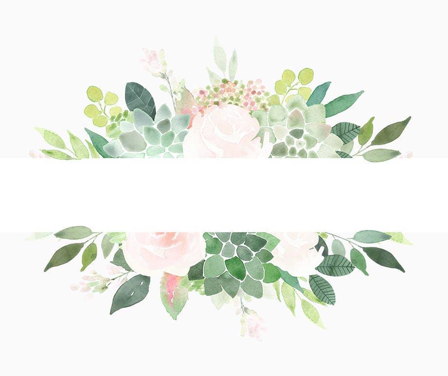 Succulents Clipart Frames, Succulent Border, roses frame ...