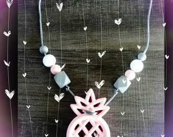 Necklace of nursing or Babywearing chew pineapple