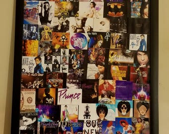 Prince Discography Album / Record / CD Cover Collage (18 x 24 inches) with POSTER frame