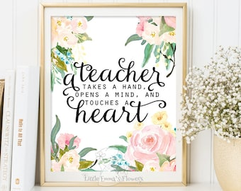 Teacher quote print classroom wall decor poster thank you gift teacher appreciation printable gift for teacher inspirational quote 3-123