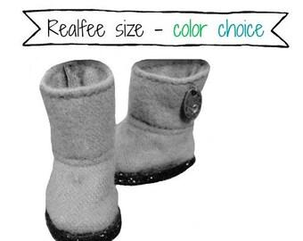 REALFEE polkadot BOOTS: Choice of Color for custom made original m.e.g.designs boots fitting Fairyland Realfee