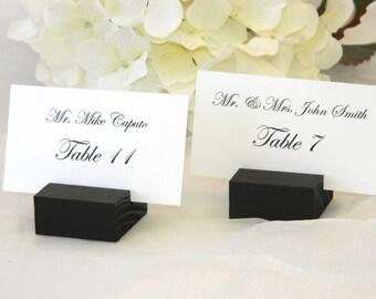 Wedding Place Card Holder -  Black place card holders  (Set of 50)