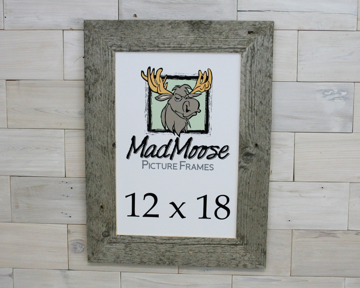 12x18 BarnWood Thin x 3 Picture Frame