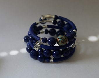 Blue Resin Spring Bracelet