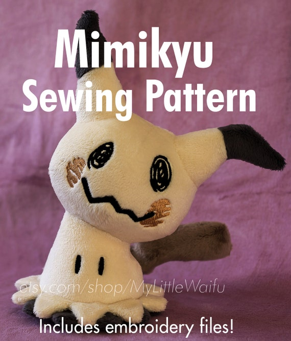DIY Mimikyu Sewing Pattern Embroidery Files Included