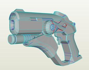 Mercy Pink Pistol 3D Model