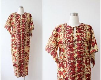 Vintage Caftan Dress India Boho Caftan Maxi Kaftan Dress Cotton Caftan Bohemian Ethnic Caftan Hippie African Festival Dress M L XL